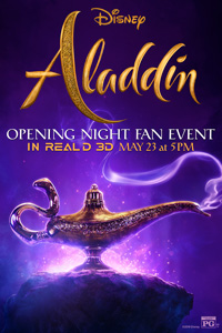 Aladdin Opening Night Fan Event Poster