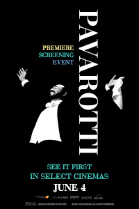 Pavarotti Premiere Screening Event Poster
