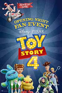 Toy Story 4 Opening Night Fan Event Poster