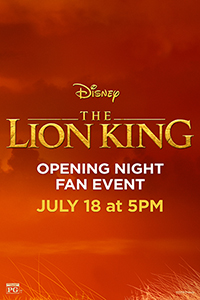 The Lion King Opening Night Fan Event Poster