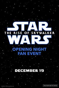 Star Wars: The Rise of Skywalker Opening Night Fan Event Poster
