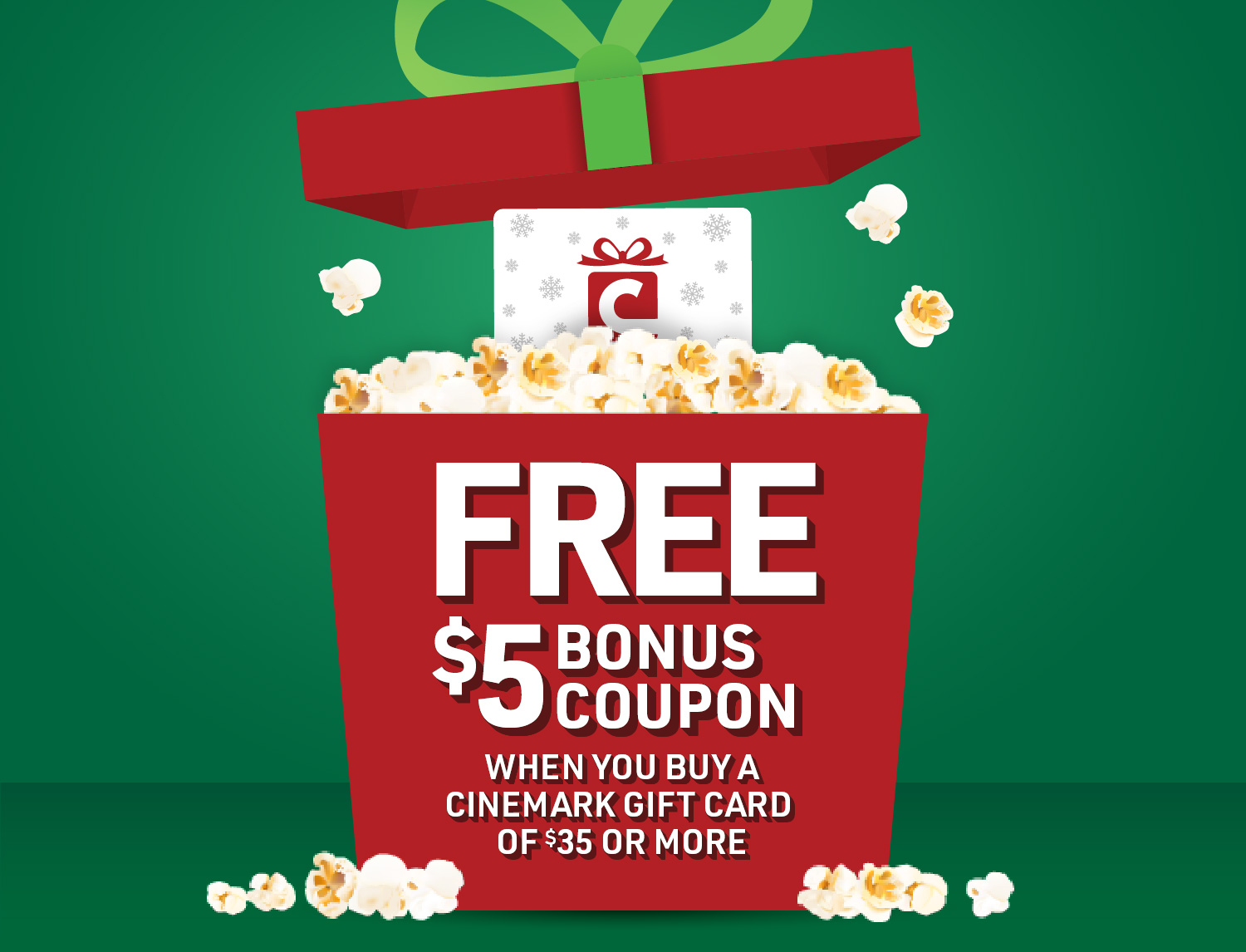 Give the Gift of Movies With Cinemark! Section2Image