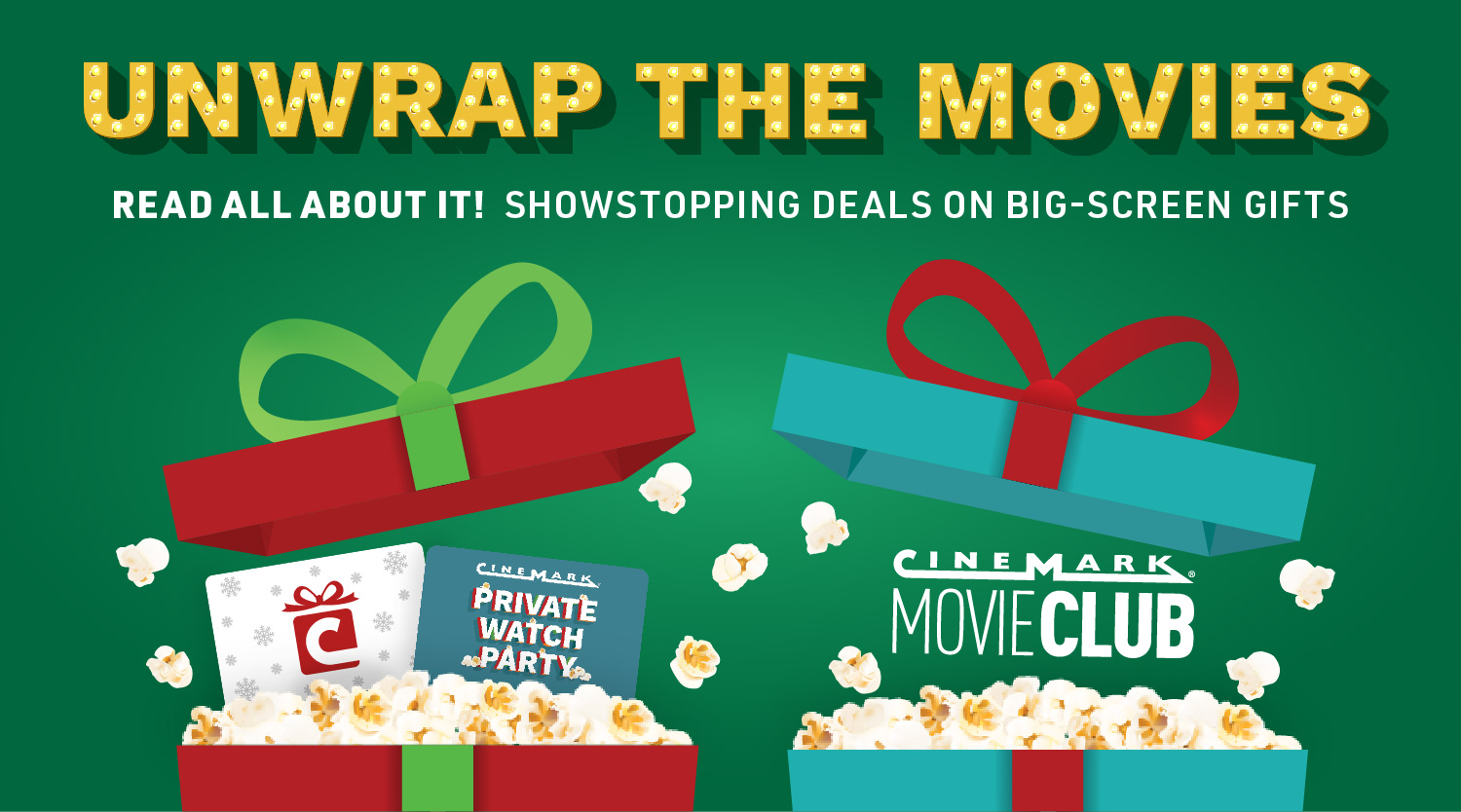 Give the Gift of Movies With Cinemark!heroImage