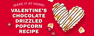 Make Chocolate-Drizzled Popcorn for Valentine's Day