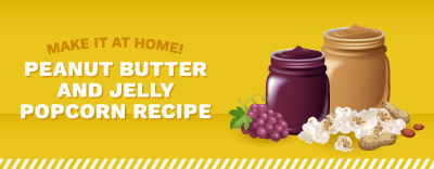 How to Make Make Peanut Butter and Jelly Popcorn
