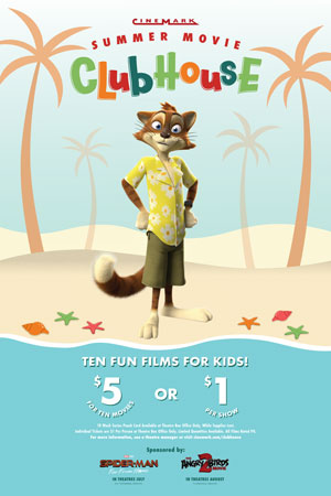 Series Banner for Summer Movie Clubhouse - Thanks for your interest. Check back in 2020!